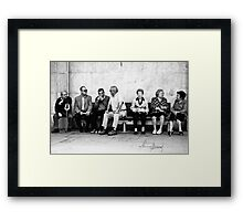 The Bored meeting :) Framed Print