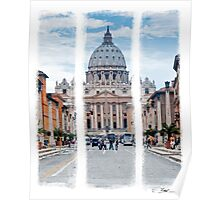St Peter's, Rome (Triptych) Poster