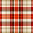 Red and Tan Plaid by HighDesign