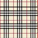 Tan Black and Red Plaid by HighDesign