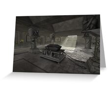 underground crypt Greeting Card