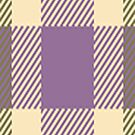 PurpleTan Green Plaid by HighDesign
