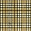 Yellow Tan Plaid by HighDesign