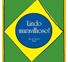Brazilian Illustration 'Marvellous Rio' by springwoodbooks