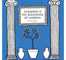 Greek Illustration 'Curiosity Is The Beginning Of Wisdom' by springwoodbooks