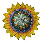 Sun Sunflower Mandala Original Print Design by KFStudios