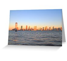 Lower Jersey City From Manhattan Greeting Card