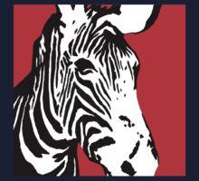 Red Zebra - Pop Art Graphic T-Shirt Kids Clothes