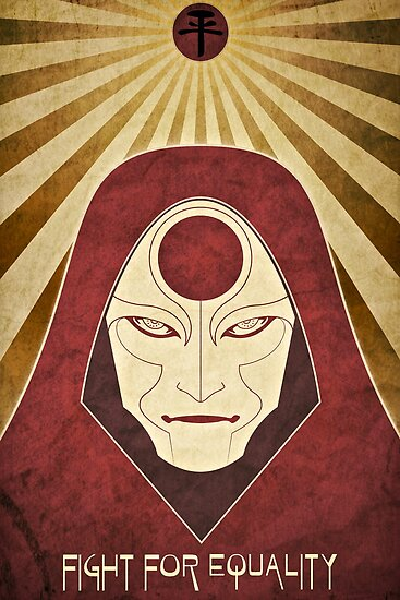 Legend of Korra - Amon Propaganda Poster by jindesign