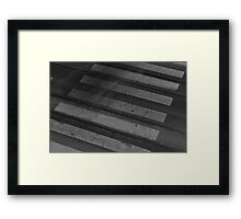 Staining Shadows Framed Print