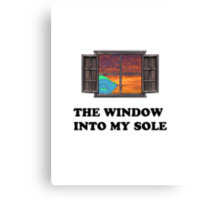 The window into my sole Canvas Print