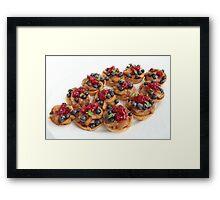 Sweet dessert with apples  Framed Print