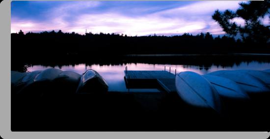 Little Joe Lake at sunset by Mooke