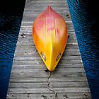 Kayak on a dock by Mooke