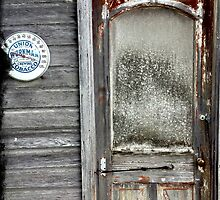 Old Door with Union Workman Tobacco Thermometer by reedonly
