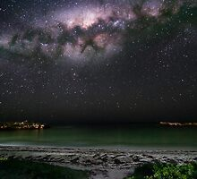 The Milky Way sets onto Dynamite Bay in Greenhead, Western Australia by Rahi Varsani