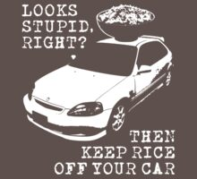 Keep Rice Off Your Car Kids Clothes