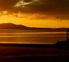 Criffel And The Setting Sun by Lou Wilson