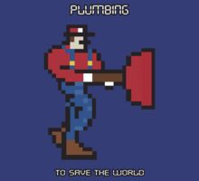 Plumbing to save the world! II by daftwolfie