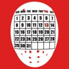 Friday the 13th - calendar TSHIRT by neizan