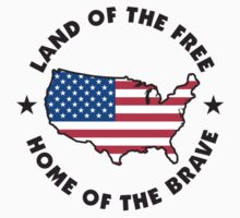 Land of The Free Home of The Brave T-Shirt T-Shirt