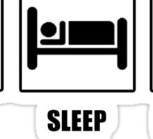 Eat Sleep Eat Some More Sticker