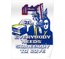 Everybody needs Somebody to Love - BLUE edit Poster