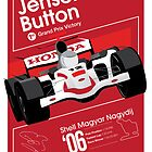Jenson Button First F1 Win Poster by Nick Sexton