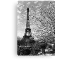 BW France Paris Eiffel tour 1970s Canvas Print