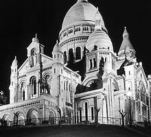 BW France Paris The Sacre Coeur Basilica 1970s by blackwhitephoto