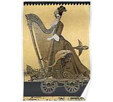 Magic Masquerade Train - Hannah & her Harp Poster