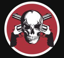 Skull with Guns by monsterplanet
