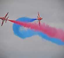 Smoke On Break ! Red Arrows - Dunsfold 2012 by Colin  Williams Photography