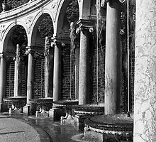 BW France palace of Versailles Colonnade Grove 1970s by blackwhitephoto