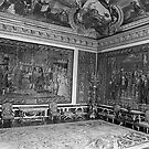 BW France palace of Versailles Apollo chambre 1970s by blackwhitephoto