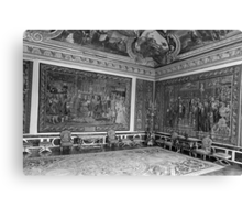BW France palace of Versailles Apollo chambre 1970s Canvas Print