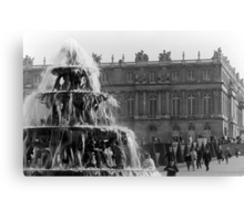 BW France palace of Versailles Pyramid fountain 1970s Canvas Print