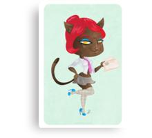 Kitty girl three Canvas Print