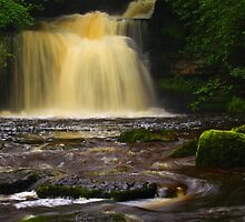 Cauldron Falls, 2 Walden Beck, North England  by Ian Alex Blease