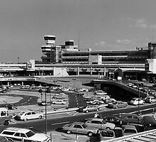 BW Germany Berlin The Tegel Airport 1970s by blackwhitephoto