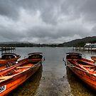 Boats in the rain by inkedsandra