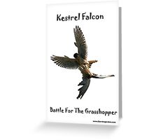 Kestrel Falcon Battle For The Grasshopper iPhone Case and Clothing Greeting Card