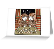 Coffee & Cup Cakes Greeting Card