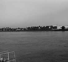 BW Iraq Baghdad forat river 1970s by blackwhitephoto