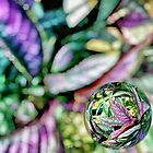 Purple Flowers - Marble by Maria Schlossberg