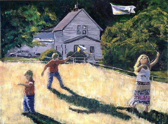 Farm Kids & Kites by Randy Sprout