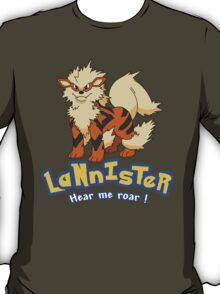 Lannister Arcanine Game of Thrones T-Shirt