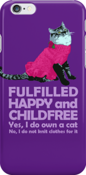 Childfree with cat (light) by PurpleSparklies