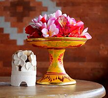 Bali Offering by Maree Costello
