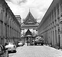 BW Thailand Bangkok Royal palace 1970s by blackwhitephoto